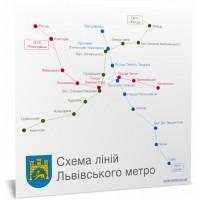 Магніт - Схема ліній Львівського метро
