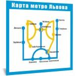 Магніт - Карта метро Львова (жовто-синя)