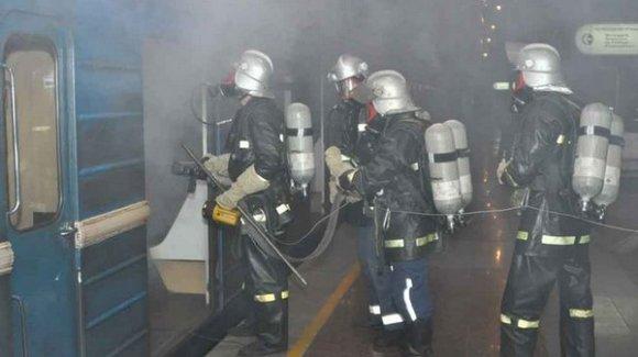 У Львівському метрополітені рятувальники провели навчання