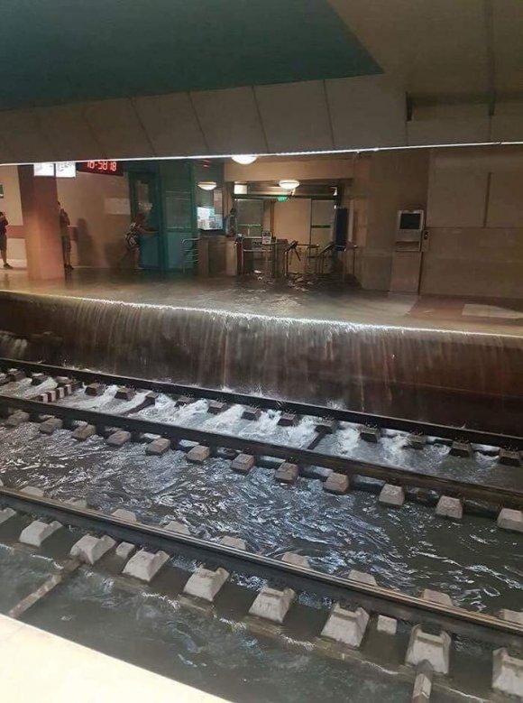 Внаслідок зливи у Львові було підтоплено станцію Замарстинів